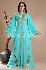 Dubai Farasha Moroccan Kaftan Dress Abaya Jilbab Islamic Arabian clothing 3811