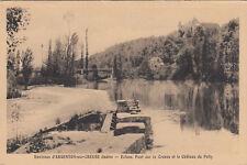 ARGENTON-SUR-CREUSE environs écluse pont sur la creuse château du pally écrite