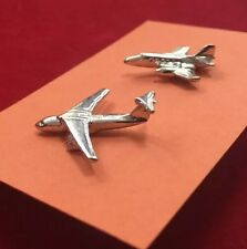 Lot of 2 Vintage 1960's AVIATION Military Aircraft Jet Advertising Lapel Pins