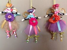 Katherine's Collection Set Of 3 Garden Party Easter Bunny Rabbit Ornaments