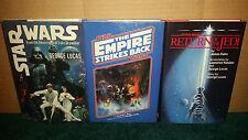 Star Wars Original Trilogy HC Book Del Ray Ballantine Empire Stikes Back + ROTJ