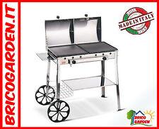 Barbecue 2 piastre Ghisa a GAS in Acciaio Inox Prodotto di qualità made in Italy