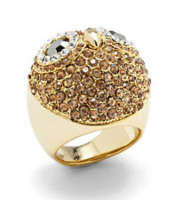 FOSSIL Brand Party Animals Glitz Owl Gold-Tone Dome Ring - Size 7 $68