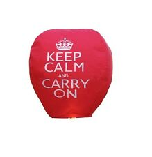 5 x KEEP CALM & CARRY ON Chinese Sky Lanterns - 100% Biodegradable eco friendly