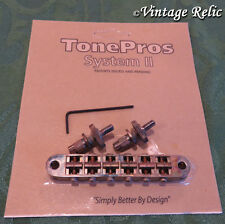 aged TonePros TUNEOMATIC Nashville bridge T3BP-N Nickel fits Gibson Les Paul 335