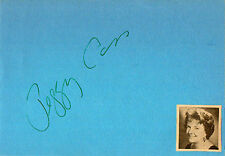 PEGGY CASS (d.1999) - Comedienne - Auntie Mame / To Tell the Truth - Autograph