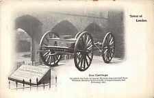 POSTCARD    MILITARY   Tower of London   Gun  Carriage  Queen  Victory