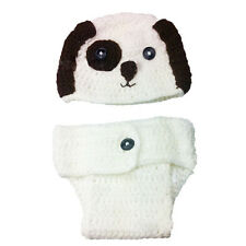 Handmade Crochet Knitted Cute Dog Newborn Baby Photo Props Outfit Costume Set