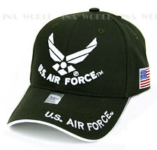 U.S. AIR FORCE hat USAF Military Official Licensed Baseball cap Flag side- Olive