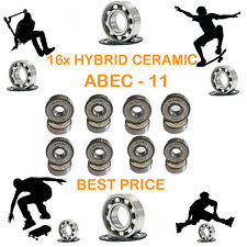 16 Precision Abec 11 hybrid ceramic bearings skate inline Skateboard scooter 9