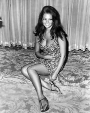 CLAUDIA CARDINALE 8X10 PHOTO SEXY BUSTY ON FLOOR B/W