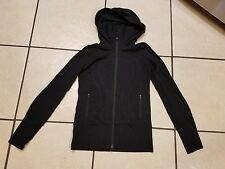 LULULEMON In Stride FULL-ZIP Yoga RUNNING HOODIE Jacket WOMENS SZ 4 Black