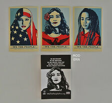 WE THE PEOPLE STICKER  SET : OBEY : SHEPARD FAIREY : ANTI-TRUMP MARCH WASHINGTON