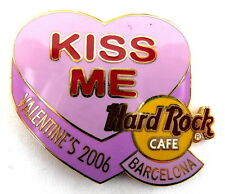Hard rock cafe HRC pin/broches-Kiss me valentine's 2006/le250!!! [2030a]
