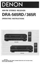 Denon DRA-565RD Receiver Owners Manual