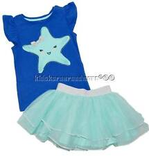Gymboree Tide Pool 3T Starfish Tank Top & Blue Tutu Skirt Set