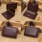 New Men's Leather Bifold ID Credit Card Holder Purse Billfold Wallet Money Clip