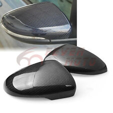 Real Carbon Fiber Side Mirror Cover Cap For 09-13 VW Volkswagen Golf MK6 GTI FM