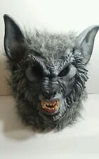 Werewolf Mask Fangs Blood Thirsty Horror Faux Fur Rubber Costume