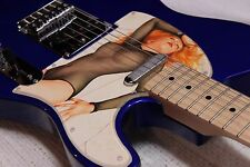 Vintage Album Cover Art Fender Telecaster Cars Candy-O Record Pinup Girl