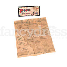 New Pirate Treasure Map Prop Fancy Dress Accessory Jack Sparrow Secret Map