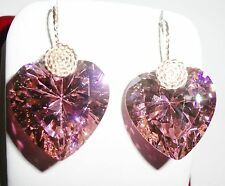 100 cts AAA Heart Pink Sapphire stones, 14kt yellow gold Pierced Earrings