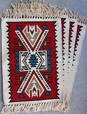Canvas Stencil Placemat 684C-HIMAT Southwest Southwestern Design Western Set  4