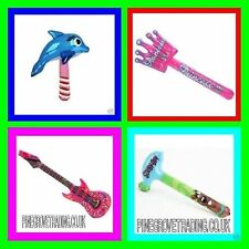 15 MIXED INFLATABLE TOYS GUITAR DOLPHIN HAMMER SWORDS