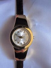 Avon Womens Watch Double Wrap Lizard Print Brown Band Gold Case NEW!