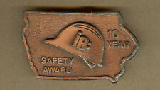 Vintage IE, Iowa Electric 10 Year Safety Award IA BELT BUCKLE