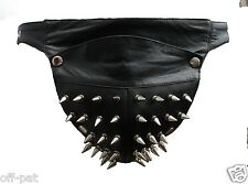 LAMBS LEATHER SPIKED BONDAGE JOCKS THONG BRIEFS Posing pouch