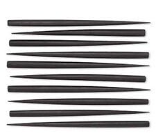"BULK 40 BROWN or BLACK Stained Wood HAIR STICKS 6""  Drilled on top"