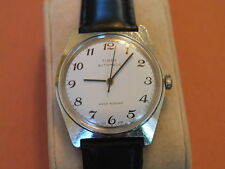 Nice Vintage TIMEX Automatic Men's Watch w/White Dial