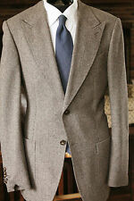 SUIT SUPPLY SUSU WASHINGTON SALT PEPPER DONEGAL TWEED PEAK LAPEL PATCH POCKET