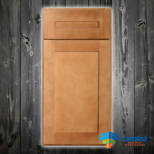 Solid Wood RTA Cabinet Sample Door, Shaker Kitchen Cabinets, Color: Amber
