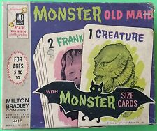VTG MONSTER OLD MAID CARD GAME~1964 MILTON BRADLEY UNIVERSAL PICTURES~CREATURE