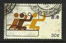 HONG KONG POSTAL ISSUE - USED COMMEMORATIVE STAMP - 1982 DISABLED SPORT
