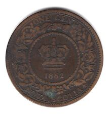 1862 Province Of Nova Scotia Canada Copper One 1 Large Penny Cent Coin A186