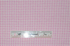 Light Pink Gingham Nursery Baby Girl Cotton Flannel Fabric   BTY   (H1)