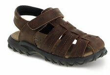 Stride Rite Brown Leather Closed Toe Sandals Boys Size 2 M