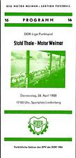 DDR-Liga 87/88 BSG Motor Weimar - Stahl Thale, 28.04.1988