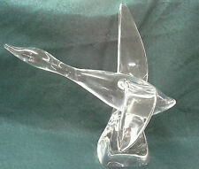 RARE  VINTAGE  SIGNED  STEUBEN  WATER BIRD DESIGNER  LLOYD ATKINS 8095 GLASS