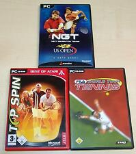 3 PC Giochi Raccolta-Top Spin-NGT Next Generation Tennis US Open-fila Tour