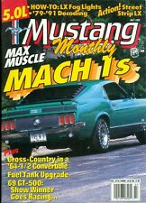 1992 Mustang Monthly: Mach 1s/ Cross Country In A '64-1/2 Convertible/ 69 GT-500