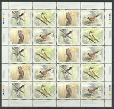 CANADA BIRDS 3d IN A SERIES, ON CANADA 1998 Scott 1713a, sheet of 5 sets, MNH