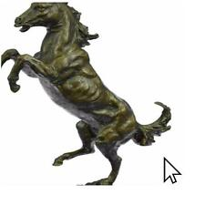 Signed Barye Excited Rearing Horse Bronze Marble Sculpture Racing Marble  A