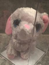 AUTHENTICATED TY BEANIE BOOS PEANUT ELEPHANT 2009 Grey  PInk EARS