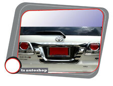 CHROME LICENSE PLATE FRAME COVER TRIM FOR NEW TOYOTA FORTUNER 2011 2012 2013