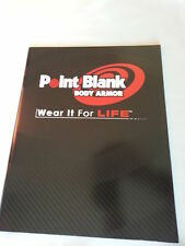 Point Blank Body Armor Catalog Booklet / New