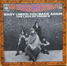 "Vinyle 45T Les Irresistibles ""Baby I need you back again"""
